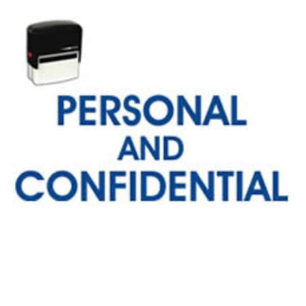Self Inking Personal Confidential Stamp