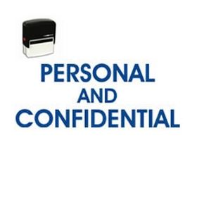 Self-Inking Personal Confidential Stamp