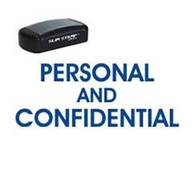 Pre-Inked Personal Confidential Stamp
