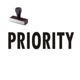 Priority Mailing Rubber Stamp