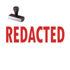 Redacted Rubber Stamp