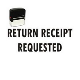 Self-Inking Return Receipt Requested Stamp