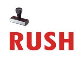Rush Rubber Stamp