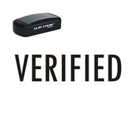 Pre-Inked Verified Stamp