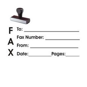 Fax It 1 Rubber Stamp