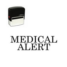 Self-Inking Medical Alert Stamp