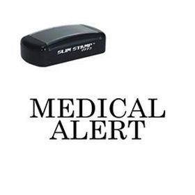 Slim Pre-Inked Medical Alert Stamp