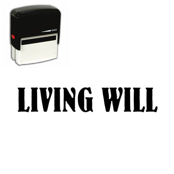 Living Will Self Inking Stamp