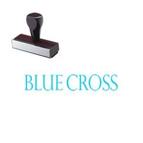 Blue Cross Rubber Stamp