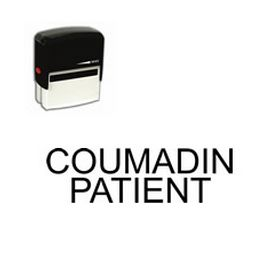 Self-Inking Coumadin Patient Stamp
