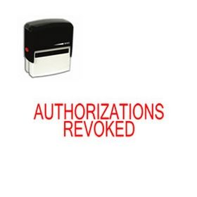 Self-Inking Authorizations Revoked Stamp