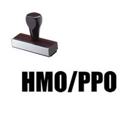 HMO/PPO Medical Rubber Stamp