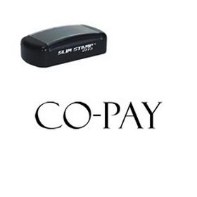 Slim Pre-Inked Co-Pay Stamp