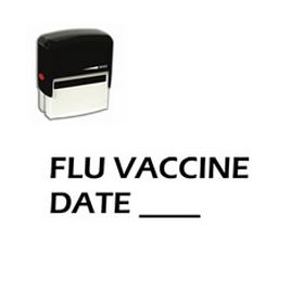 Self-Inking Flu Vaccine Date Stamp
