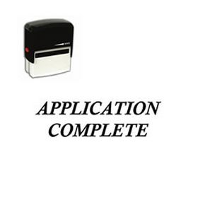 Self-Inking Application Complete Stamp