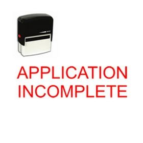 Self-Inking Application Incomplete Stamp