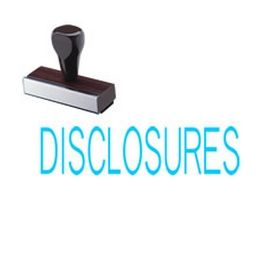 Disclosures Rubber Stamp
