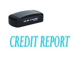 Slim Pre-Inked Credit Report Stamp