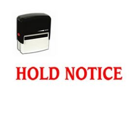 Self-Inking Hold Notice Stamp