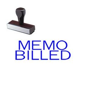 Memo Billed Rubber Stamp