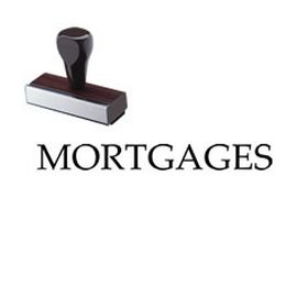 Mortgages Rubber Stamp
