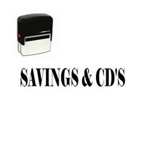 Self-Inking Savings & CDs Stamp