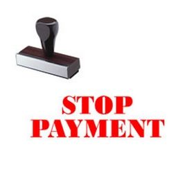Stop Payment Rubber Stamp