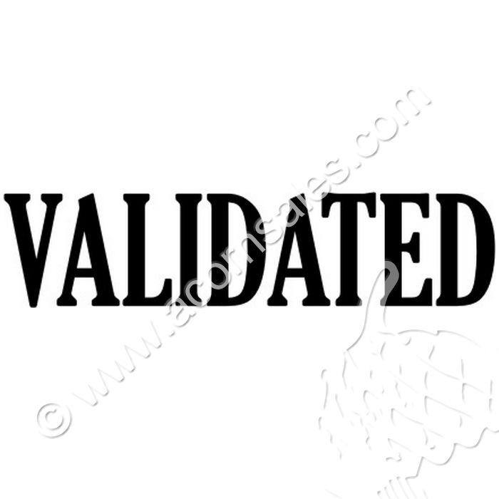 Self Inking Validated Stamp