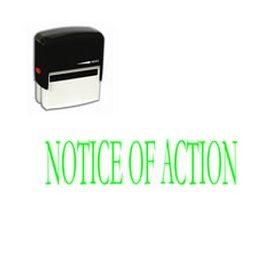 Self-Inking Notice Of Action Stamp