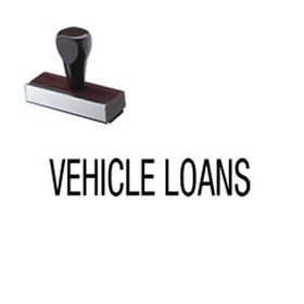 Vehicle Loans Rubber Stamp