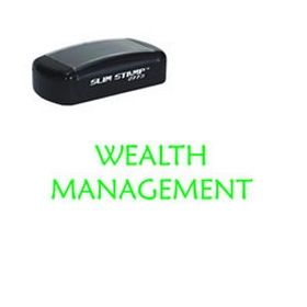 Slim Pre-Inked Wealth Management Stamp