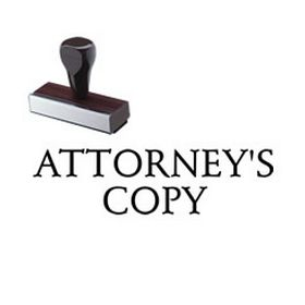 Attorneys Copy Rubber Stamp
