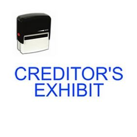Self-Inking Creditors Exhibit Stamp