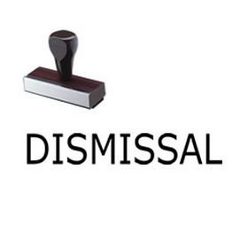 Law Office Dismissal Rubber Stamp