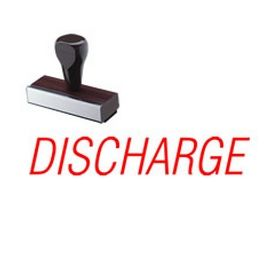 Discharge Rubber Stamp