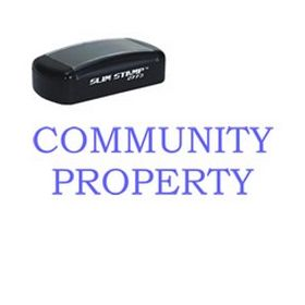 Slim Pre-Inked Community Property Stamp