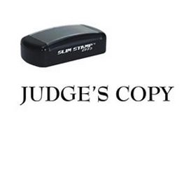 Slim Pre-Inked Judges Copy Stamp