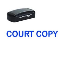 Slim Pre-Inked Court Copy Stamp