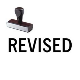 Black Revised Rubber Stamp