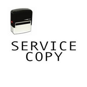 Self-Inking Service Copy Stamp