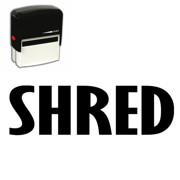 Self Inking Shred Stamp