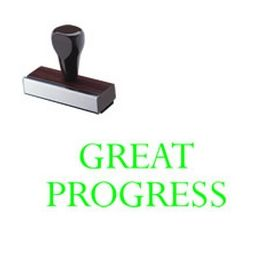 Great Progress Teacher Grading Rubber Stamp
