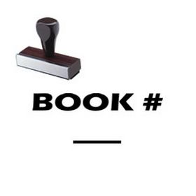 Book # Rubber Stamp