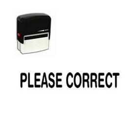 Self-Inking Please Correct Stamp