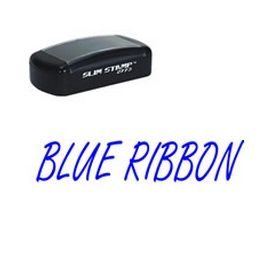 Slim Pre-Inked Blue Ribbon Teacher Stamp
