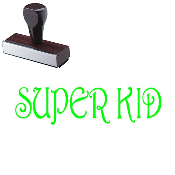 Super Kid Rubber Stamp