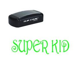 Slim Pre-Inked Super Kid Stamp