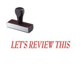 Lets Review This Rubber Stamp