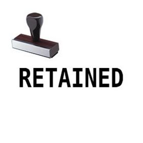 Retained Rubber Stamp