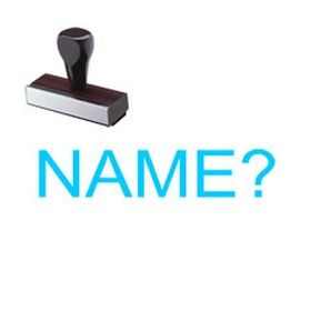 Name? Schoolteacher Rubber Stamp